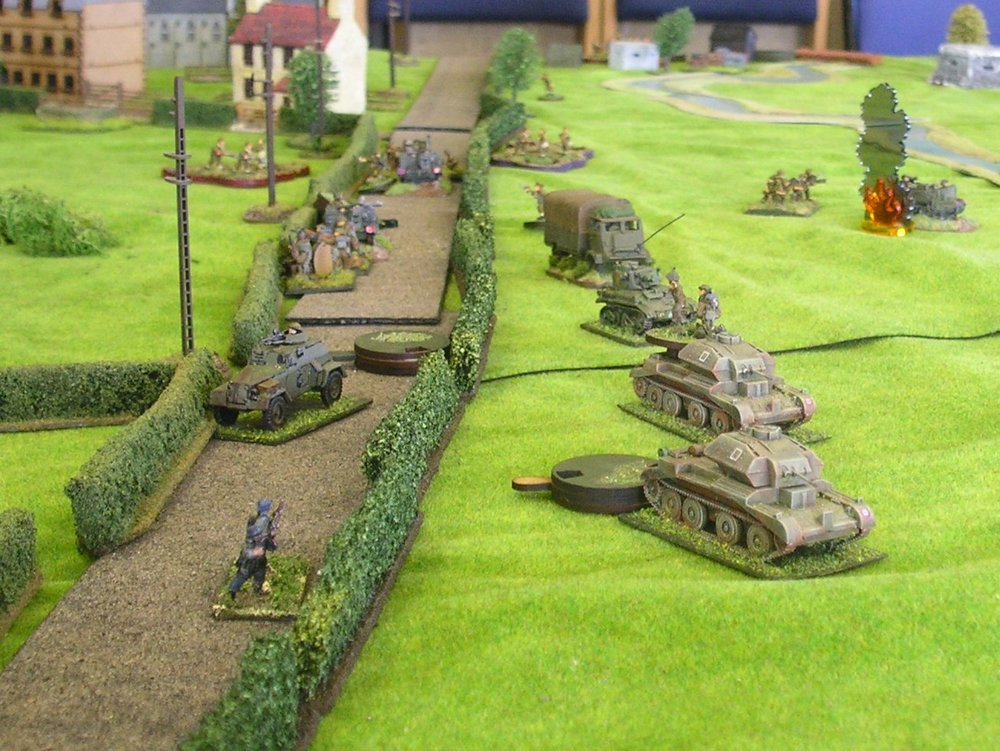A close up of the tanks just before the German MMGs open fire