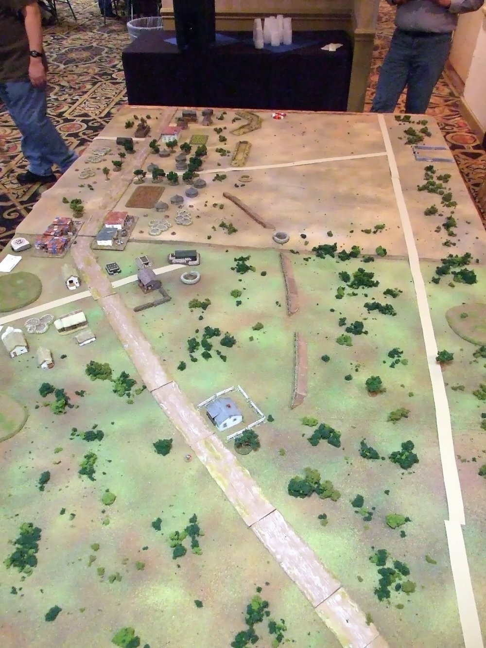 This is the south end of the battlefield looking up towards the center of the town and LZ Rennex at the top right.