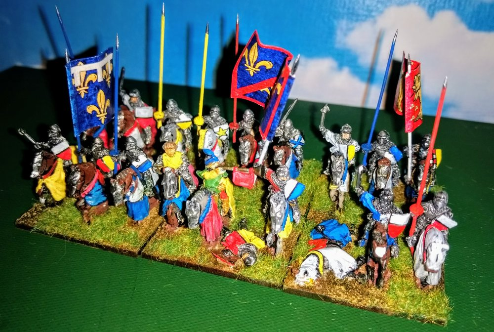 Always tough to paint: French HYW Knights from Andrew Helliwell