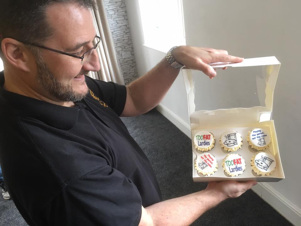 The man himself: Mr Deacon and the famed Lardy cupcakes