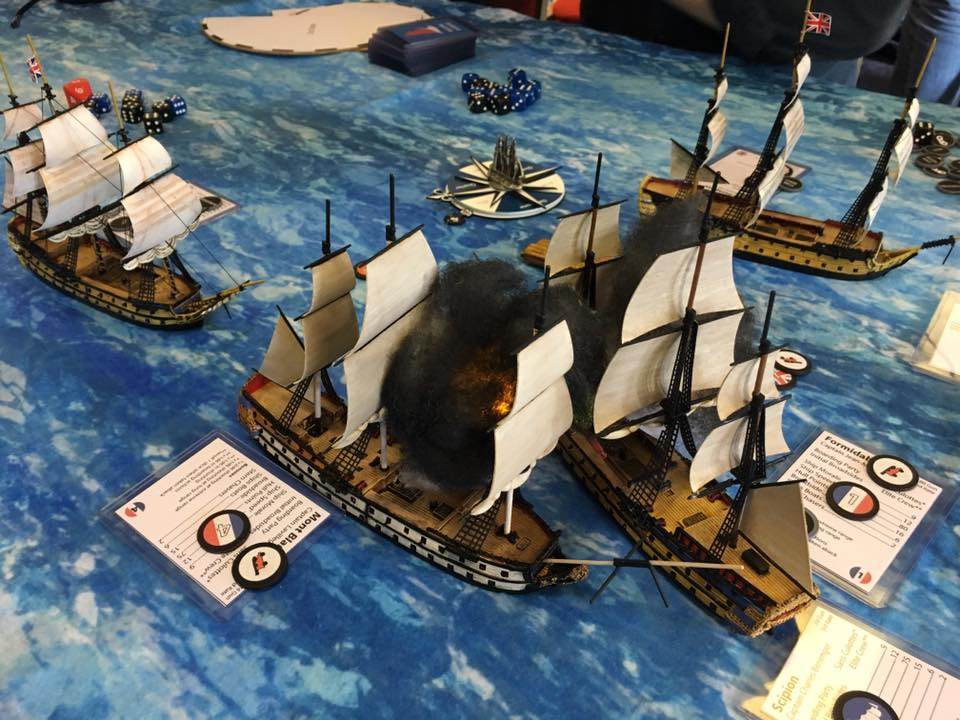 Amazing looking Napoleonic naval game