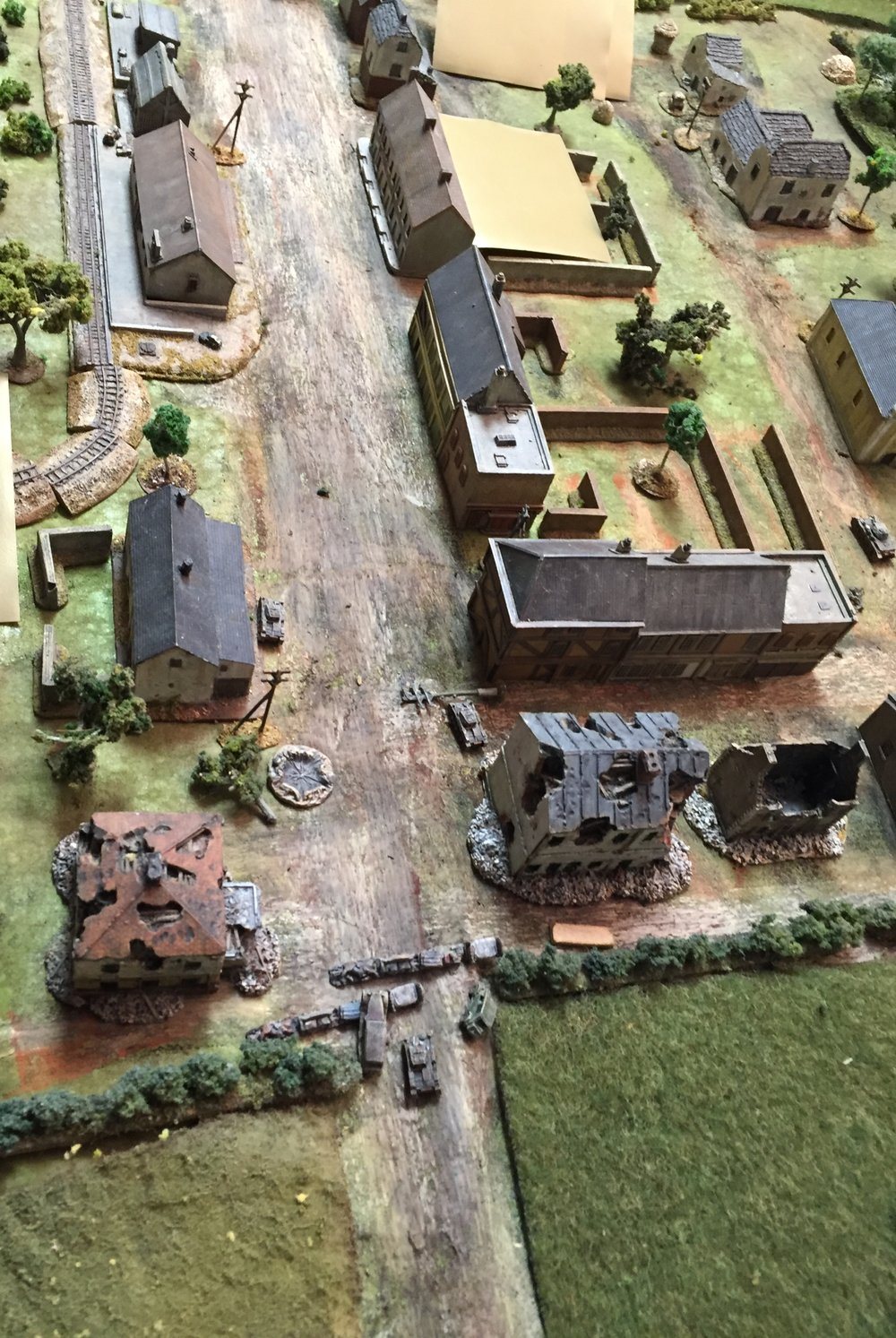 Panzers Break into the Village