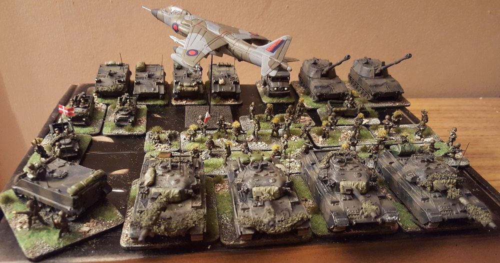 Here's Doug's modern Danish battle group: see his gallery for close ups