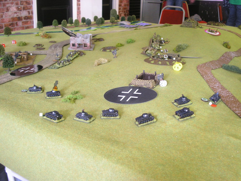 outflanking the line with the panzers