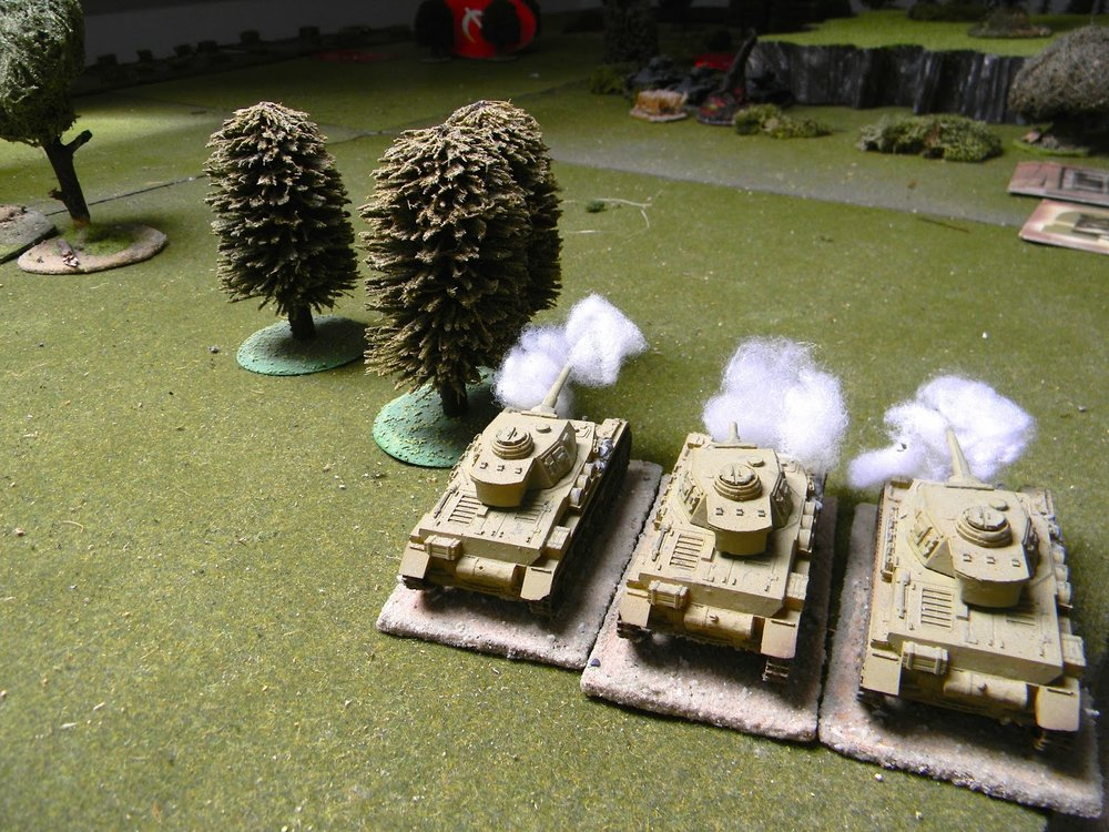 A second Panzer Zug spots enemy armour and opens fire...