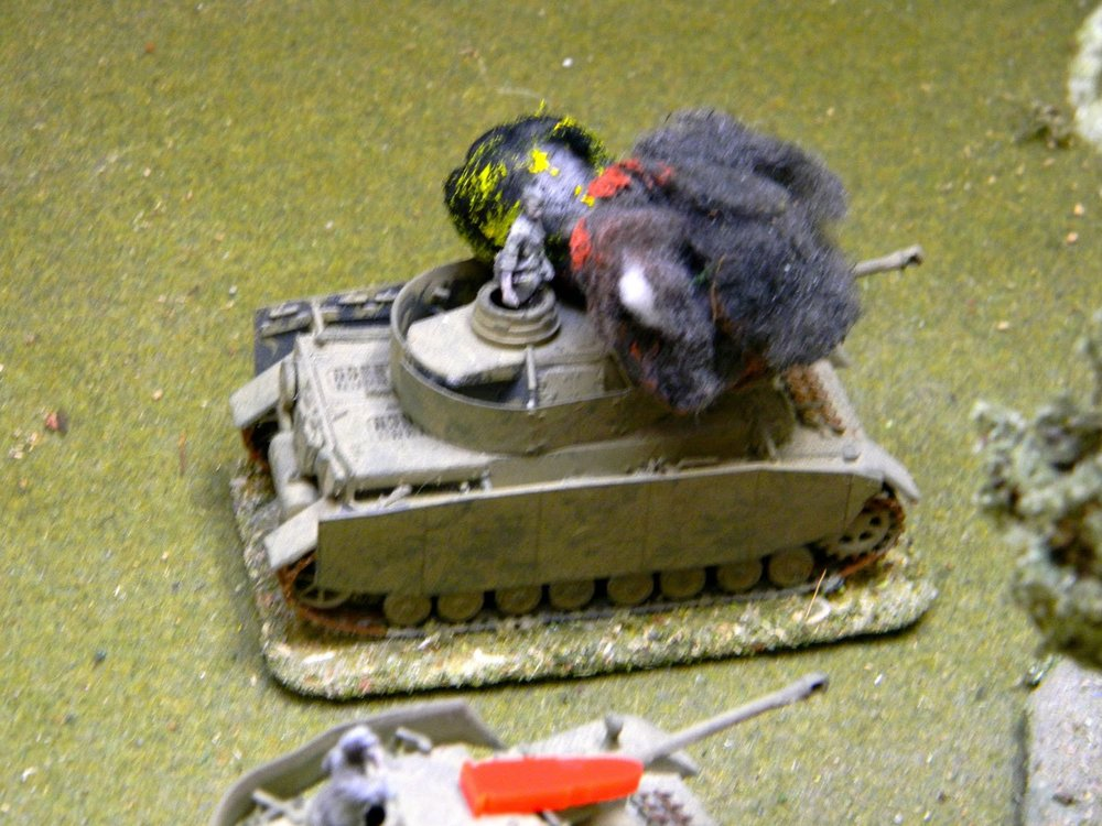 Just as well as his 50mm gun will be needed - a Pz IV explodes