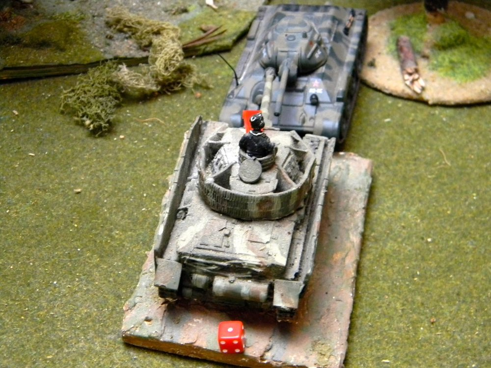 But a damaged PzIV rams the T34 before he can shoot him too.