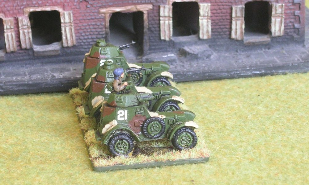 WZ.34 armoured car platoon