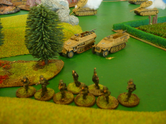 Especially as the German infantry are advancing in support on the right
