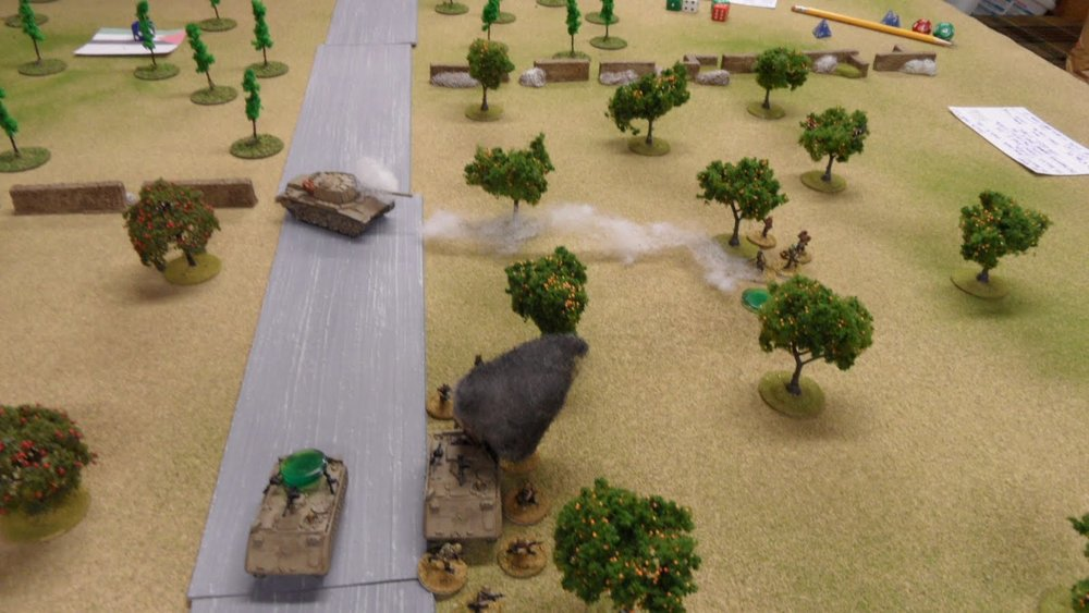 another RPG damages the tank