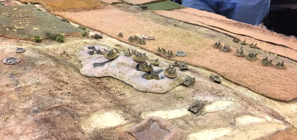 The Russians get into their Old Entrenchments