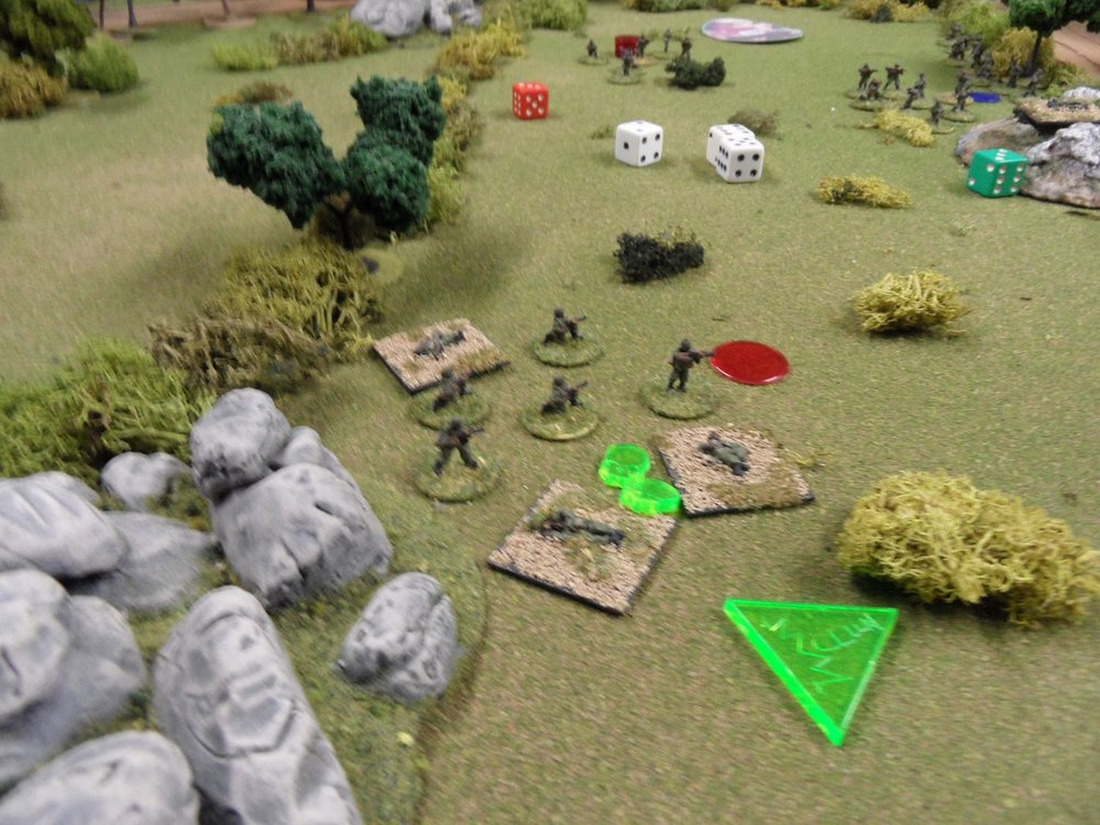 Hammered by fire from the technical and a squad of rebels next to the sawmill, the Government troops are on the edge of collapse.