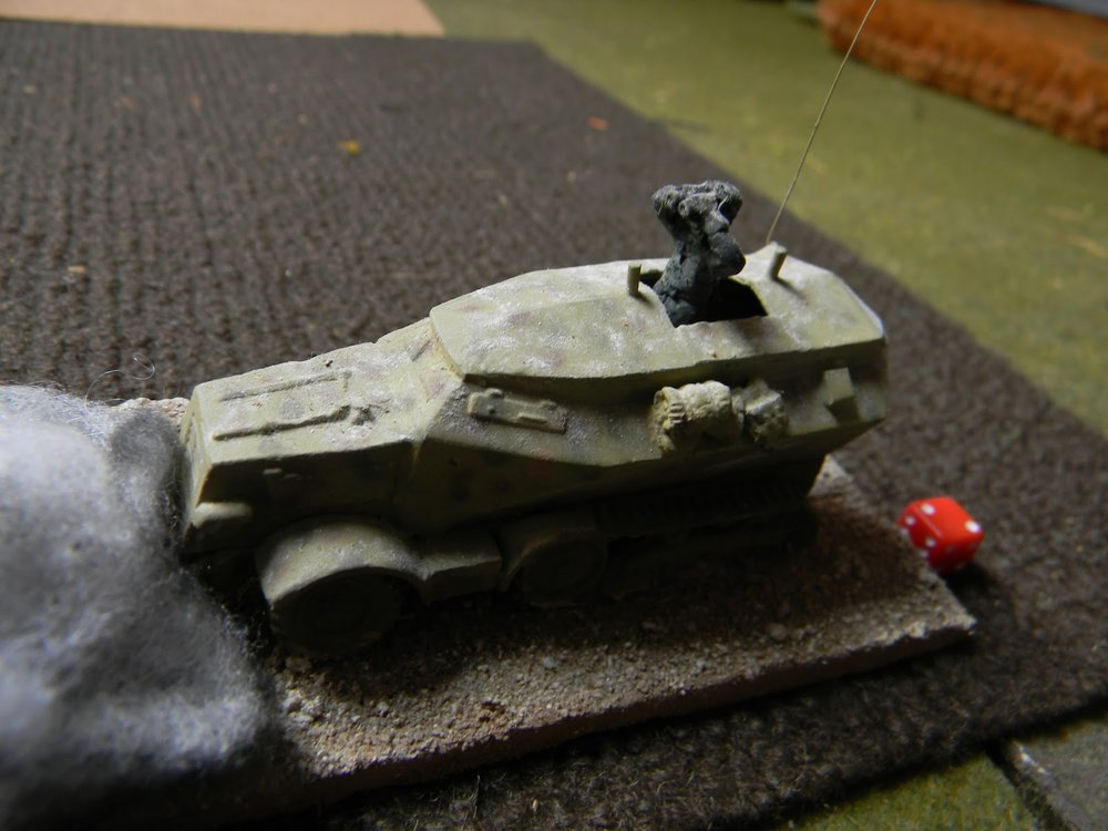 Success ! The lead command half track is hit.