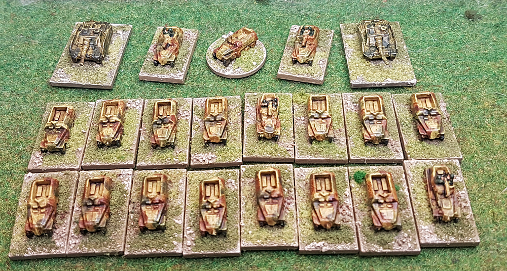 Continuing the descent: micro armour SdKfz's from Derek Hodge