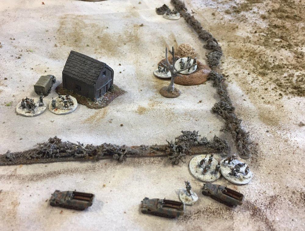 Grenadiers gain a flank