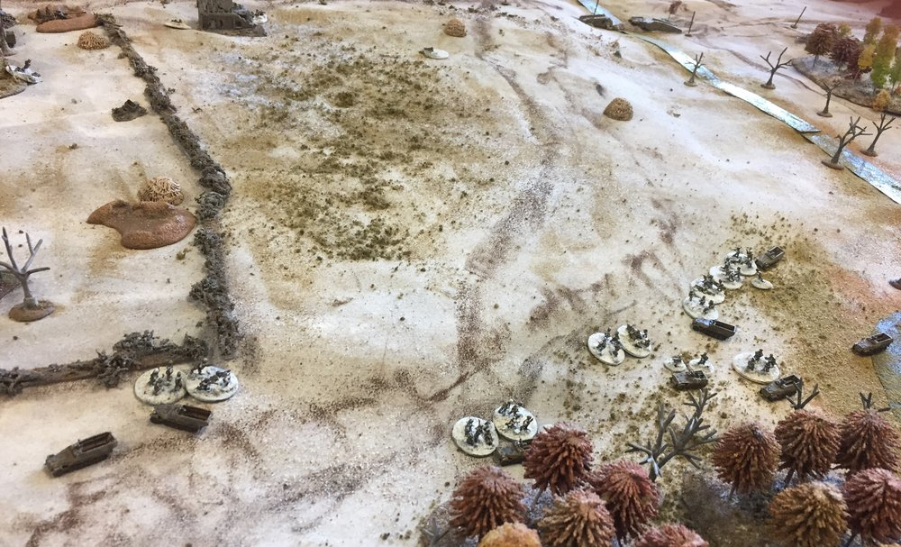 Lead grenadier unit forced back