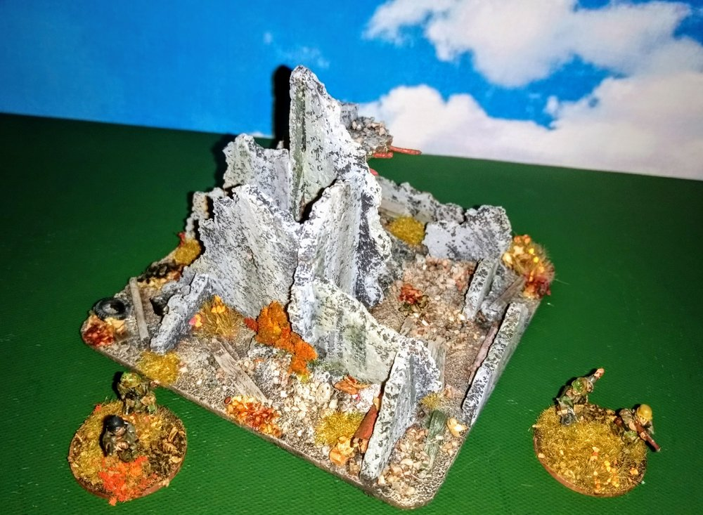 Home-made ruins from Andrew Helliwell. Click on the pic in his gallery to see the recipe.