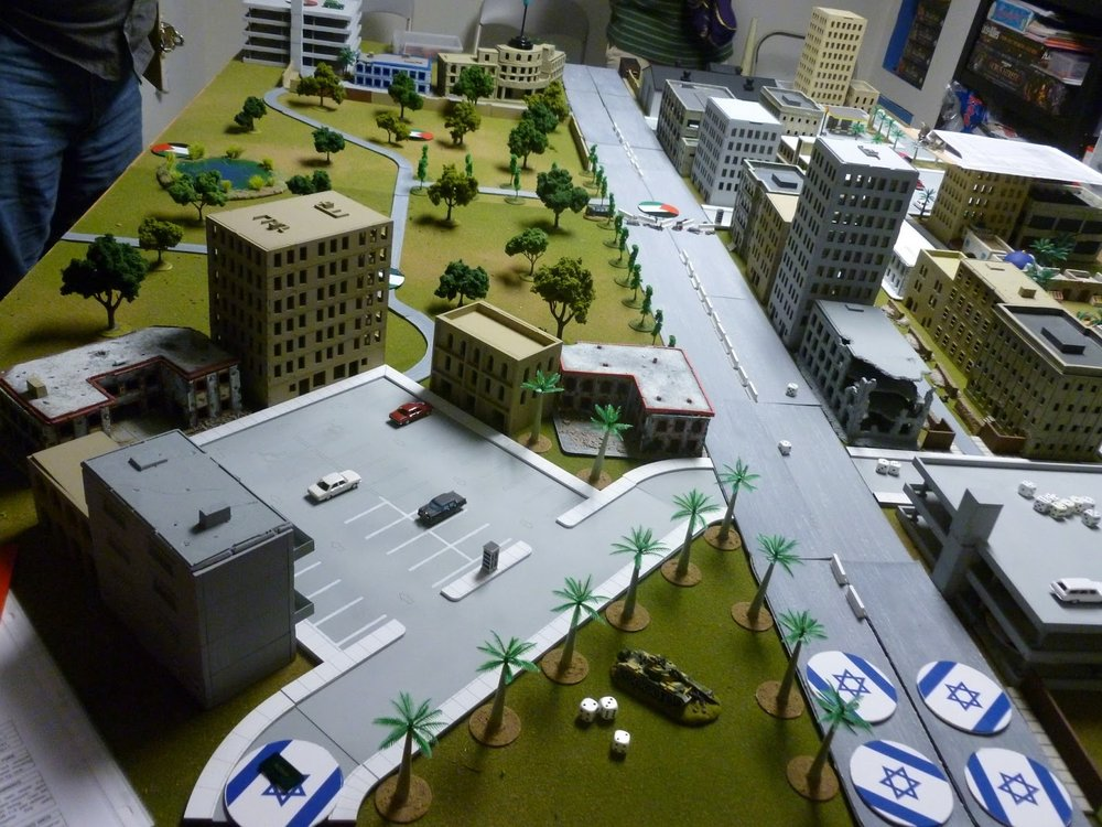 Clearly the IDF have gone with the direct approach with five units moving straight toward the center of town.