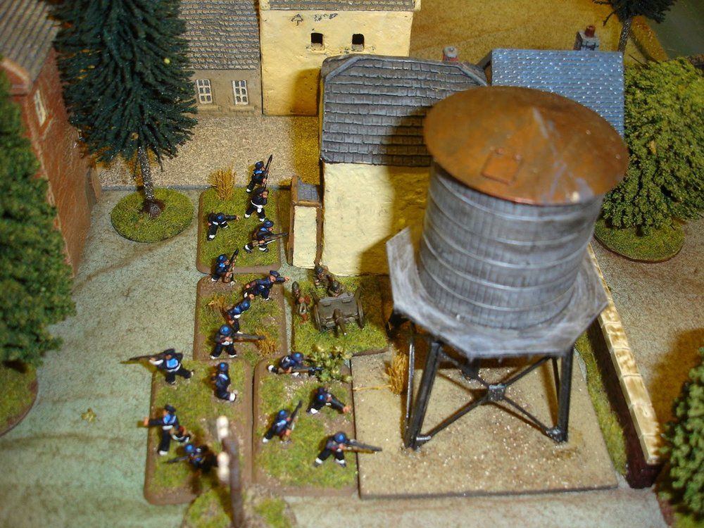 Belgian Marines hold the Town