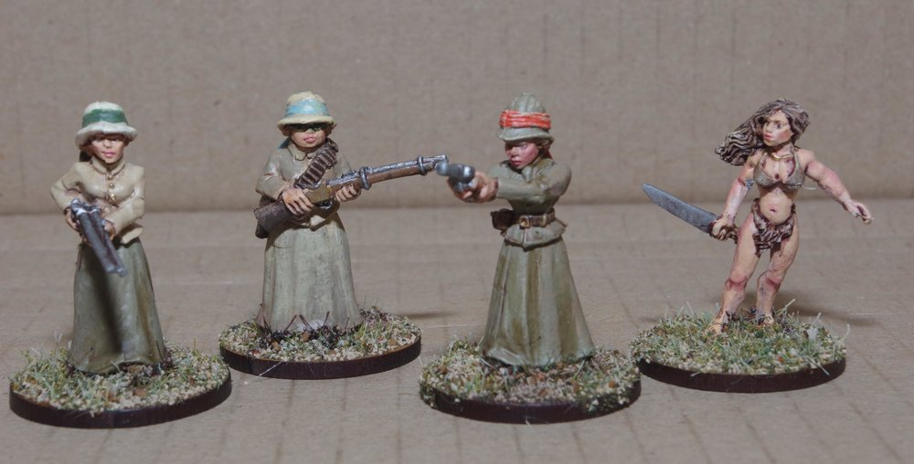 Some armed Liberated Ladies (including one who clearly went to the wrong sort of school) from Carole for the Congo