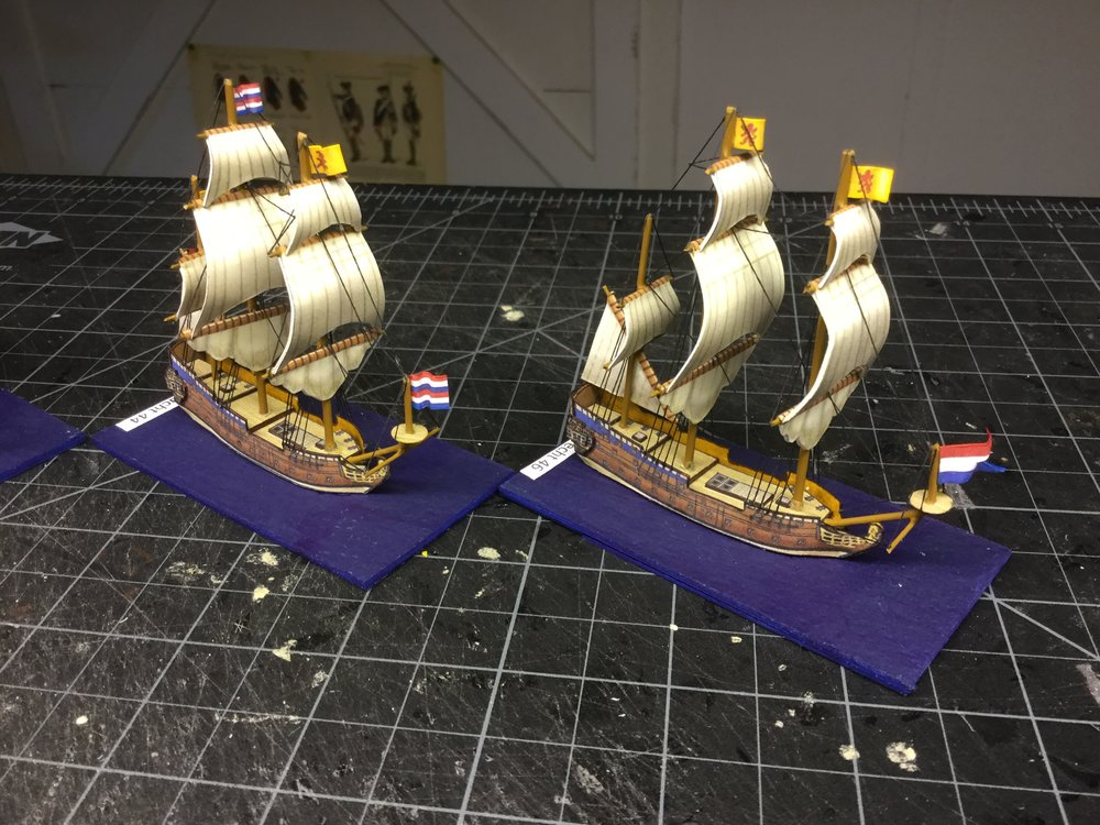 1/600 paper ships from Warartisans, built by The Hat