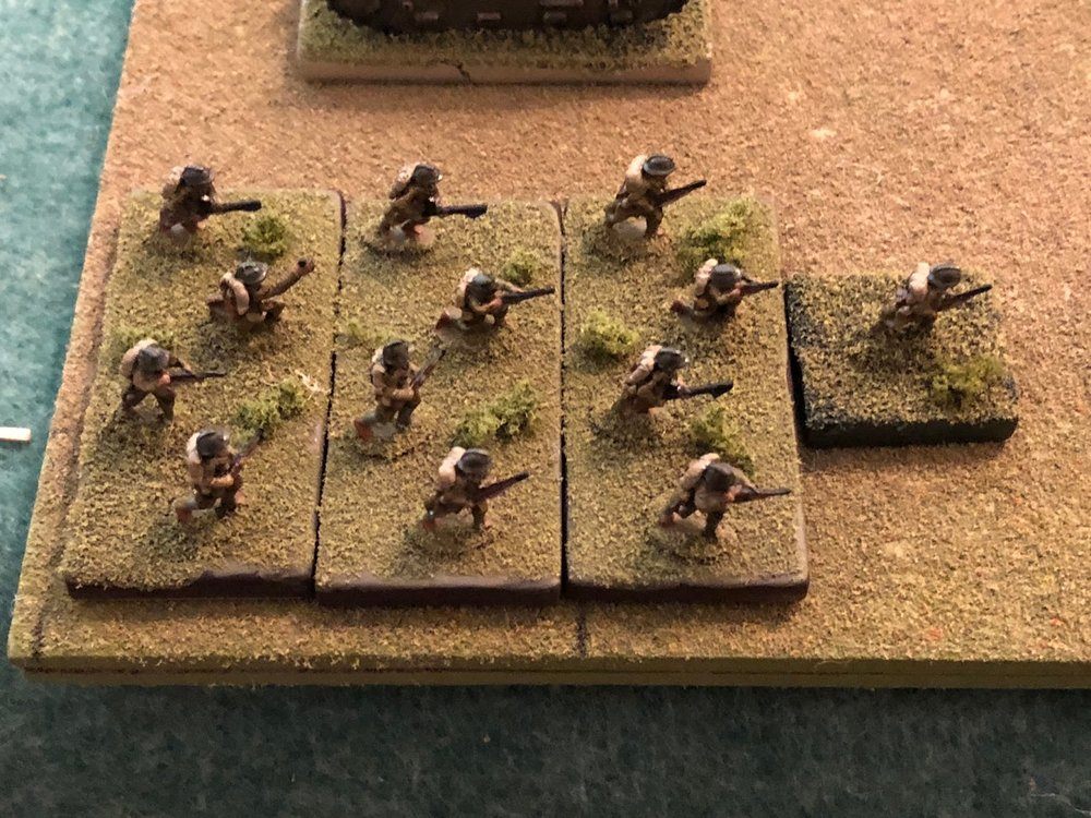 And in Turn 12 the French receive another platoon of infantry as reinforcements.