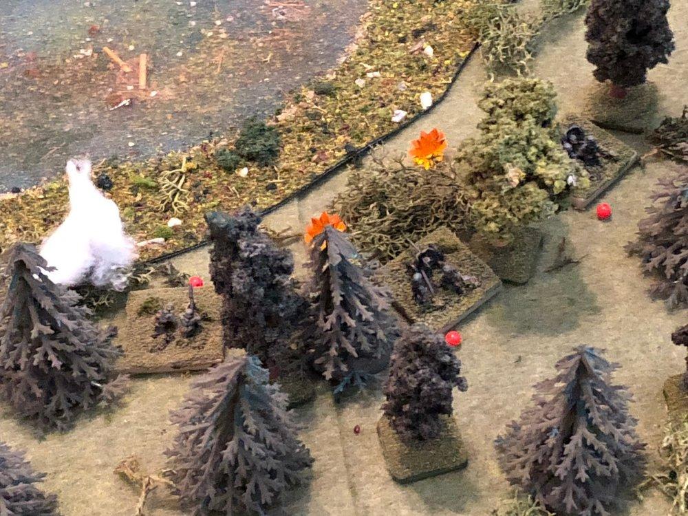 The enemy machine gun fire suppresses both of Sgt Kallenbach's ATG crews!!!