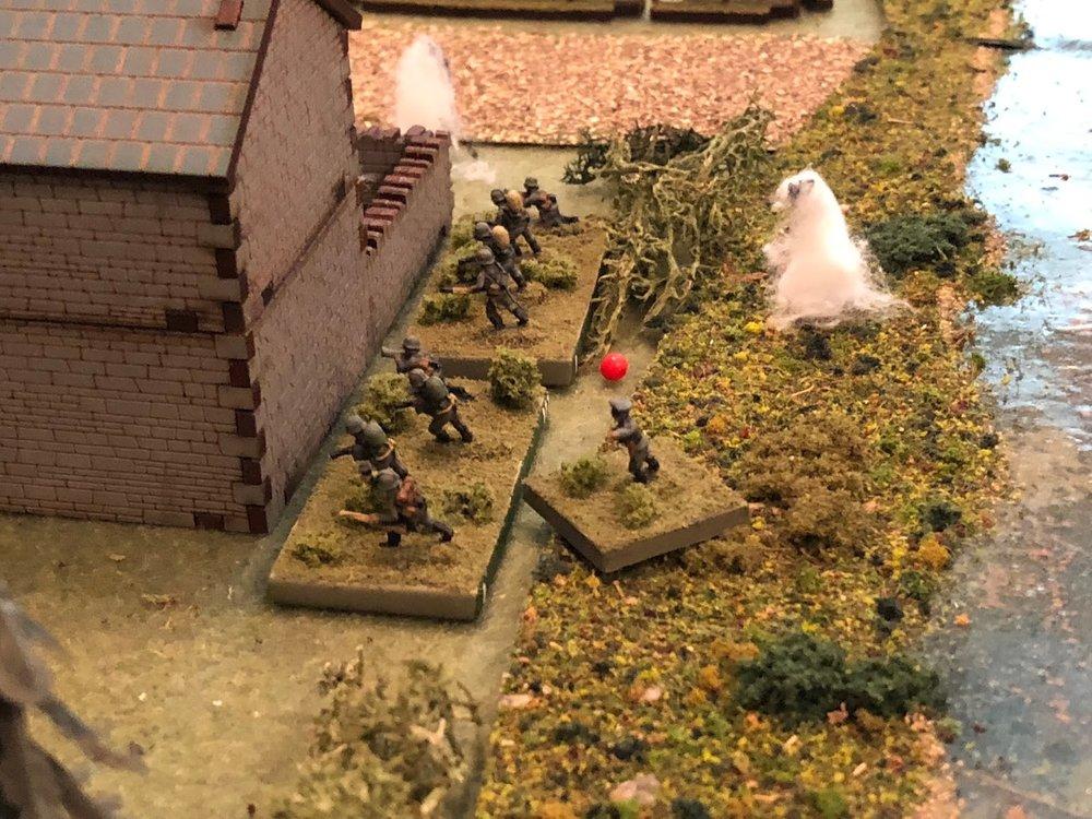 SSgt Gradl rallies Sgt Barkstrom's squad.