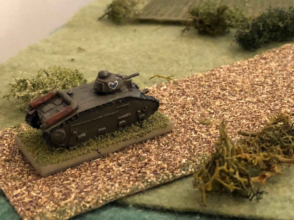 But it wasn't German tanks appearing in the southwest, it was a lone Char B, sent by High Command to reinforce Capitan Cognac's attack on the River Moiste.