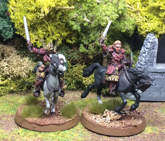 These two look tres familiar: mounted characters from Matt Slade