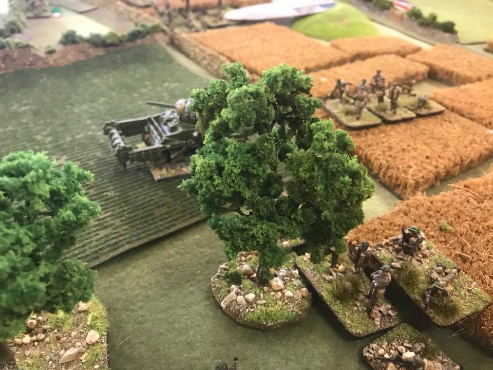Canadian infantry with Flails advance on the right flank. This was a big success at first...