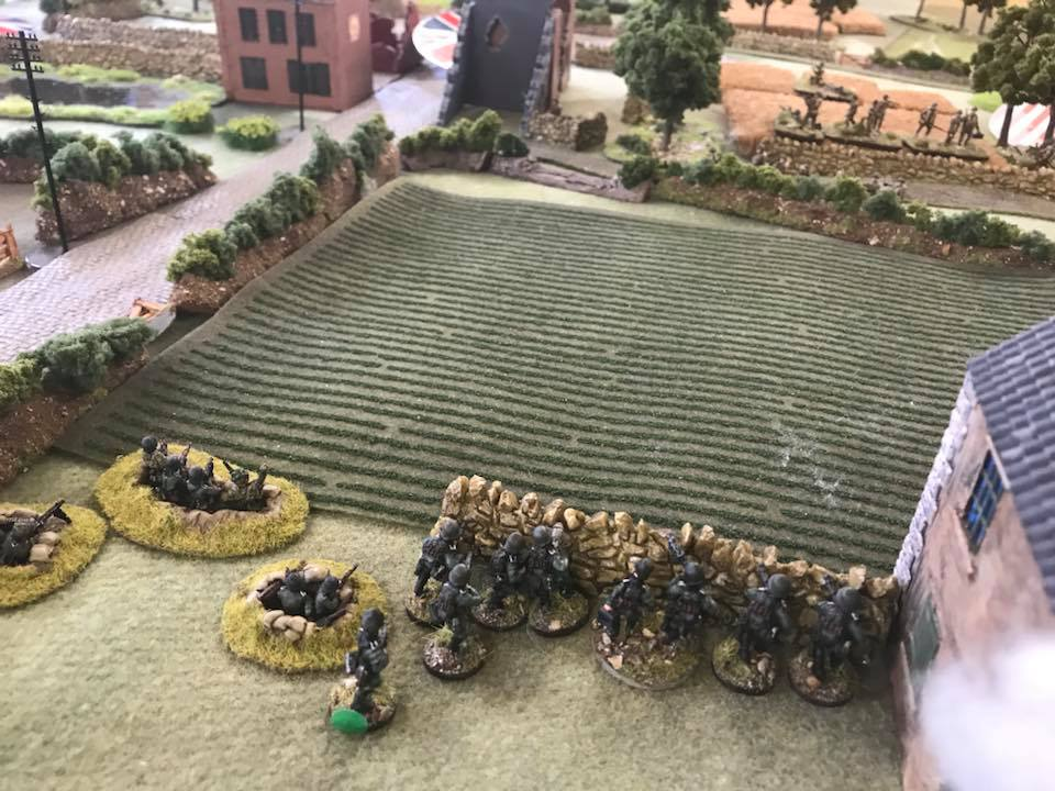 First contact. 2nd Platoon engages the Canadian infantry.