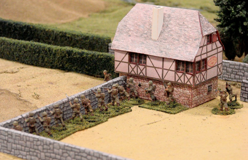 The Americans' second platoon occupied the chateau...