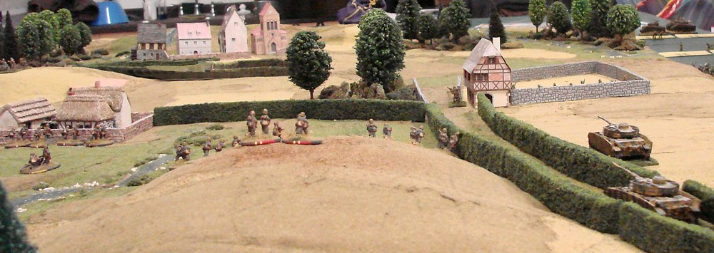 As the German advance on the right...