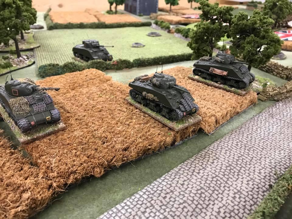 Left flank armour...