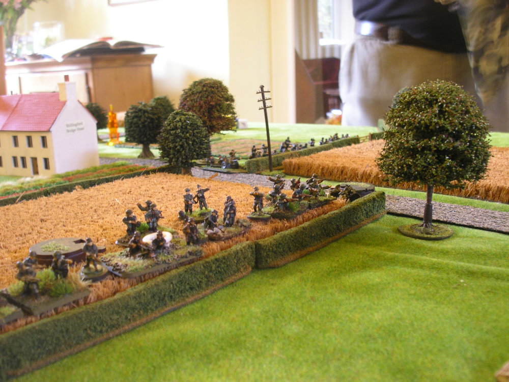 The German defensive line