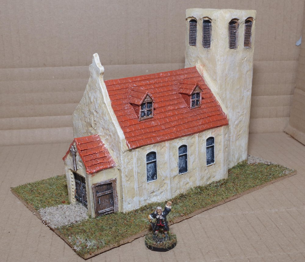 Resin church from Carole