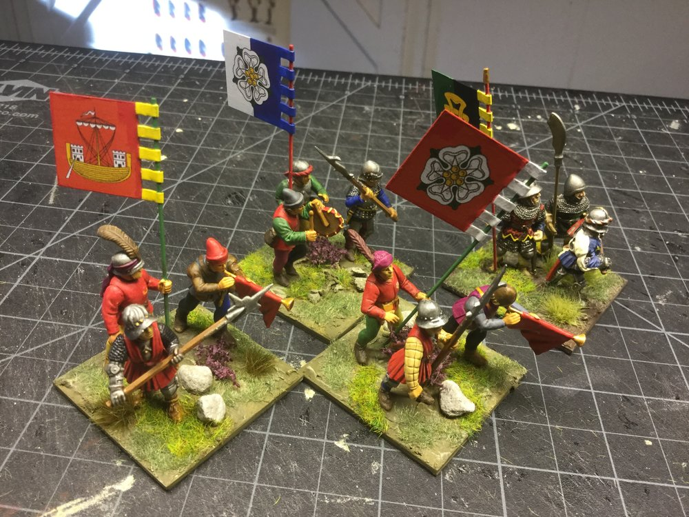 WOTR Command stands from Lloyd Bowler. Nice flags.