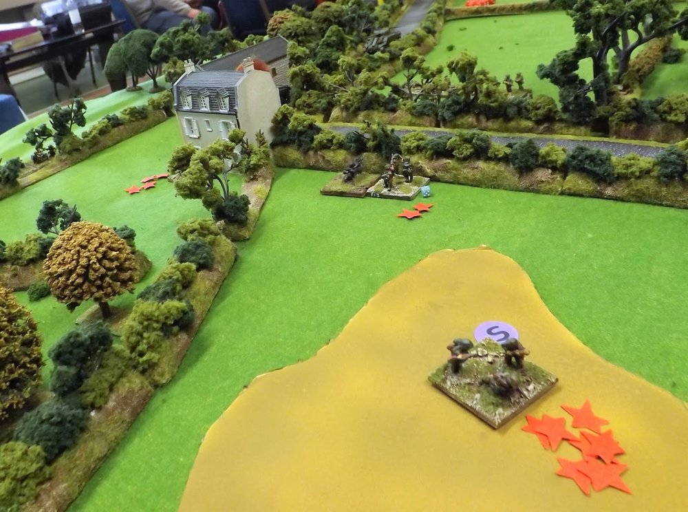 The battle is over at Ferme Valle and German survivors attempt to escape across the muddy pond to their rear