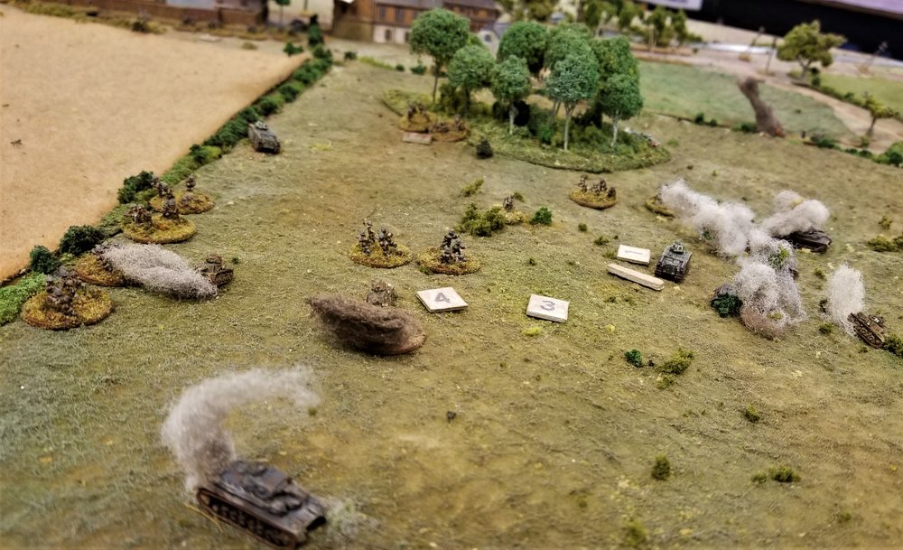 French infantry retreats but win the game