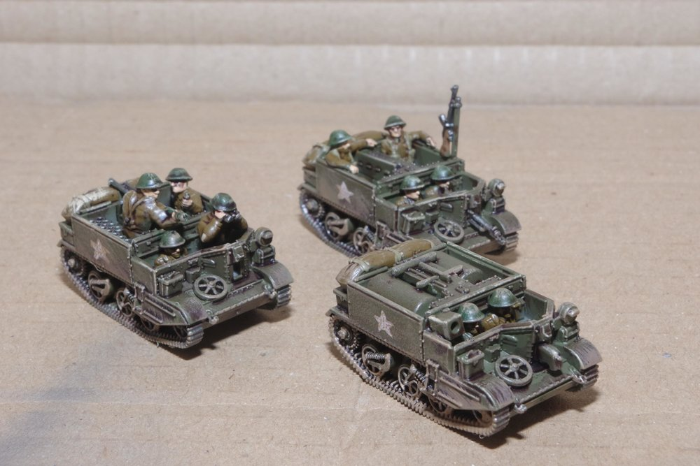 15mm British WW2 carriers from PSC from Carole
