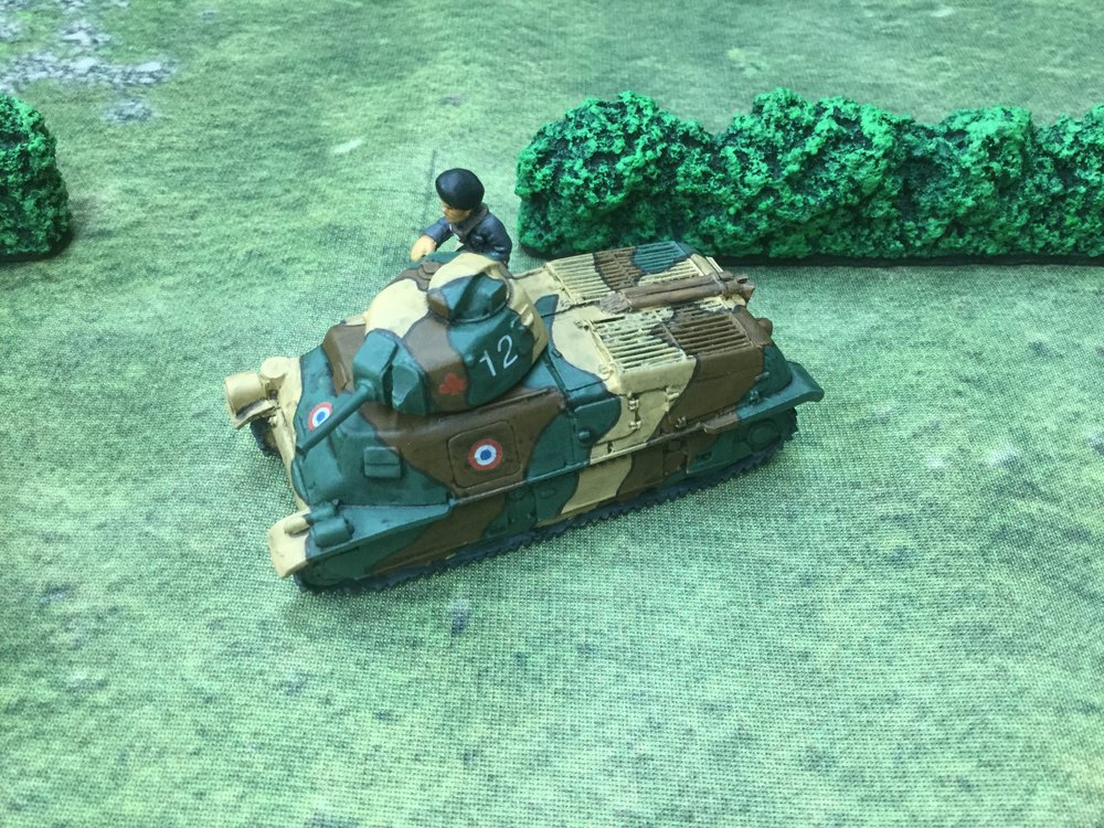 "A French Somua tank from Lloyd ""the hat"" Bowler"
