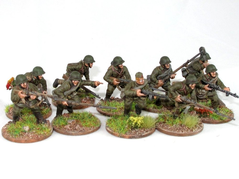 Soviet Infantry in 28mm from Andy Duffell