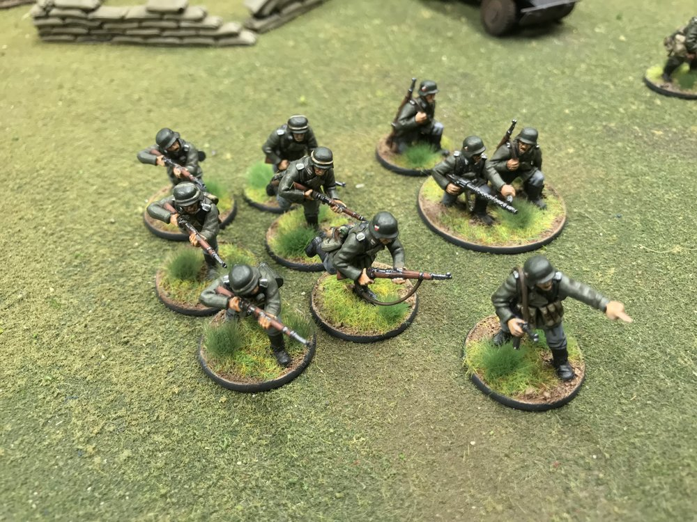 Early War German Infantry in 28mm from Travis Hiett