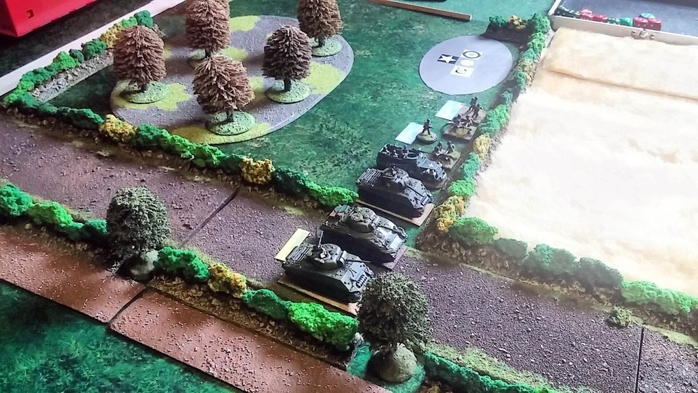 Closer look at Shermans and Company HQ units