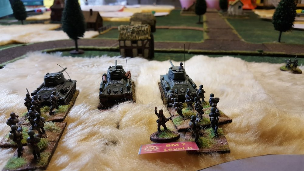 Armour gets slowed by some German defensive manoeuvring.