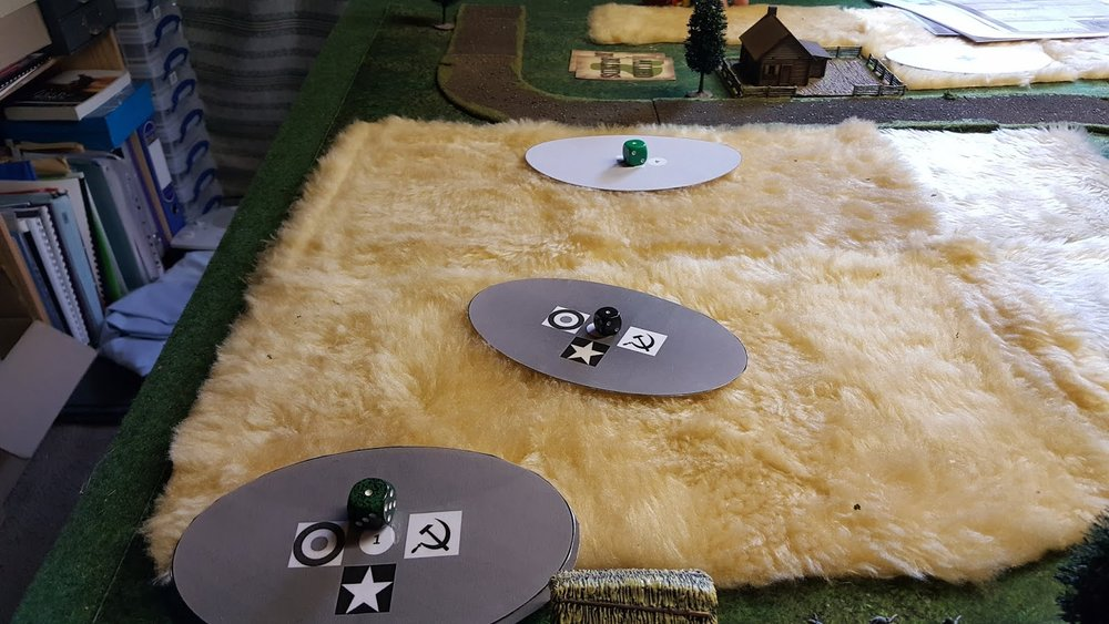 ...as reinforcements (or Dummy Blinds) move through the wheatfield in the hope of triggering a defensive response.
