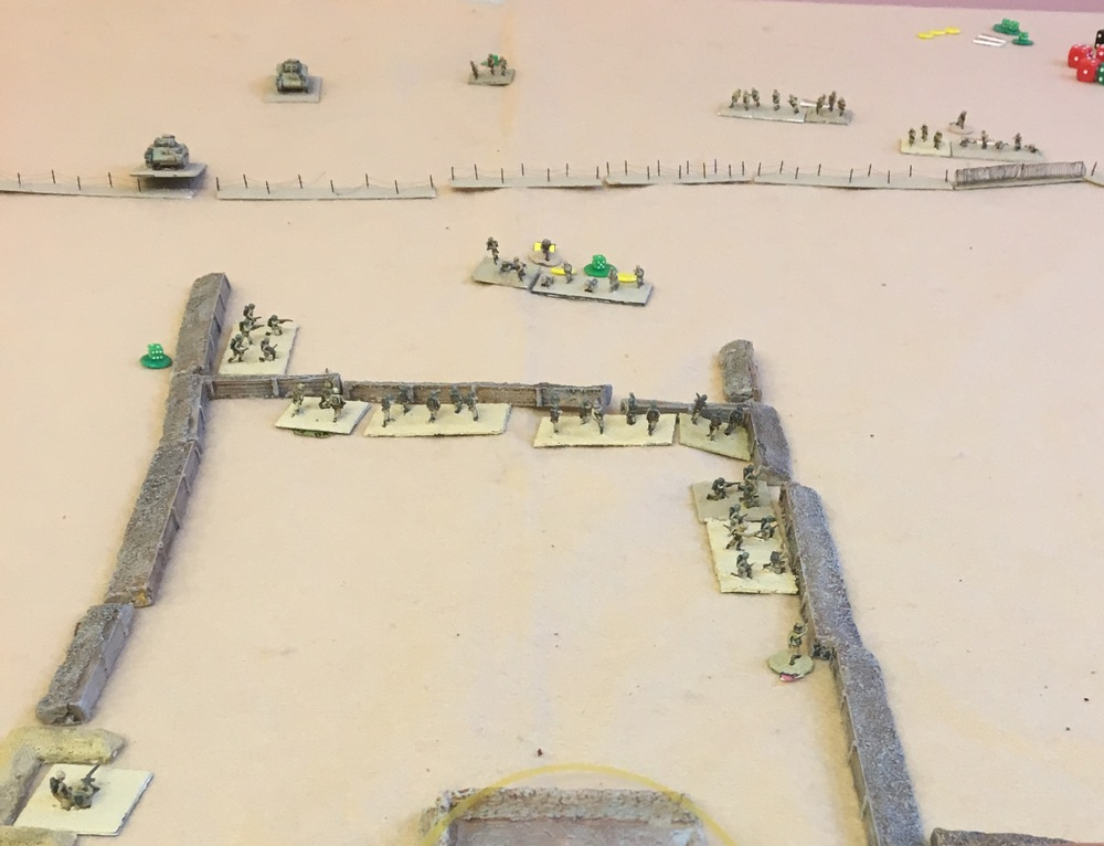 As the tanks move up the remnants of the lead Australian section, now down to three men have retired due to shock. The Italian Big Man has moved to add support.