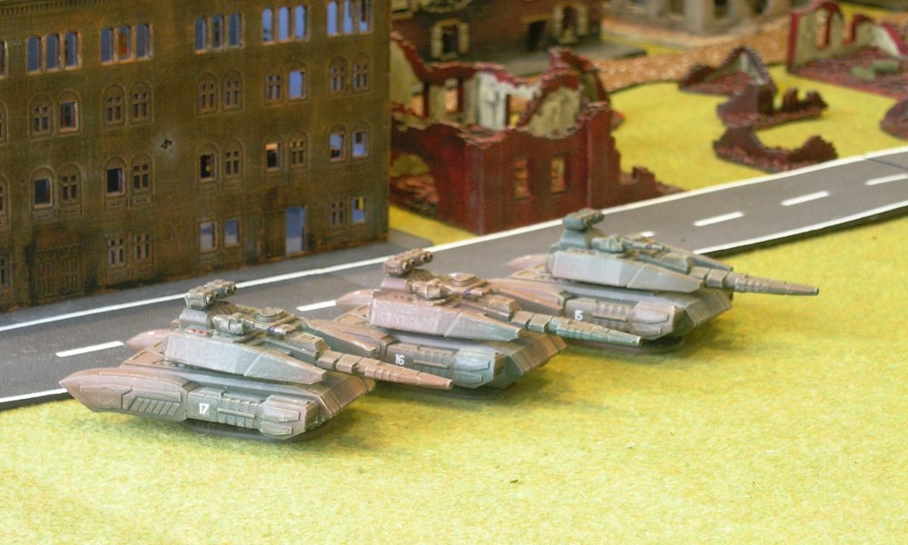 Today's painting: three Astagar Main Battle Tanks