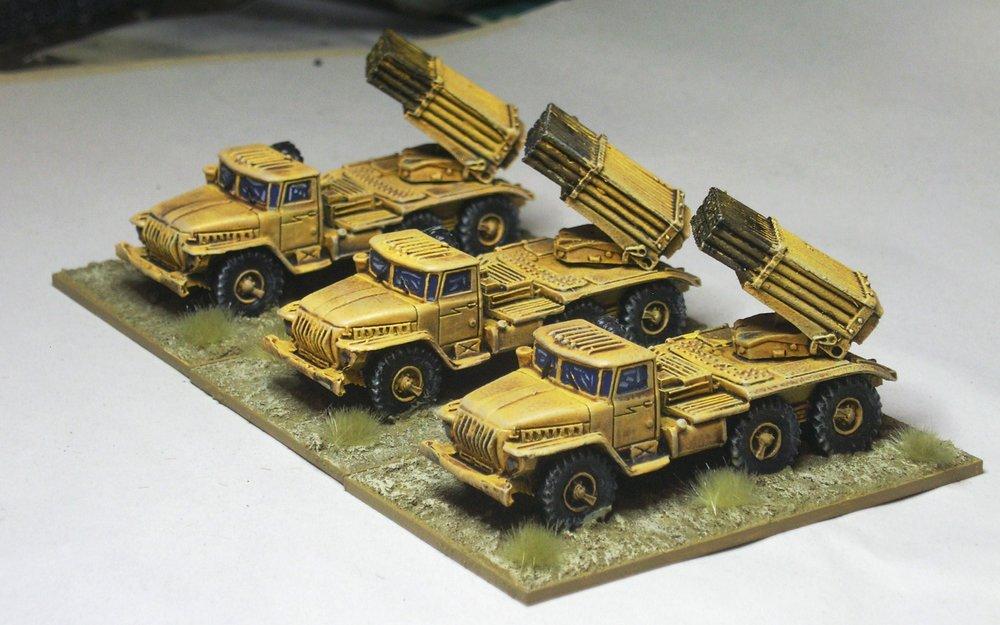 Divisional Support: BM-21 Multiple Rocket Launcher Battery